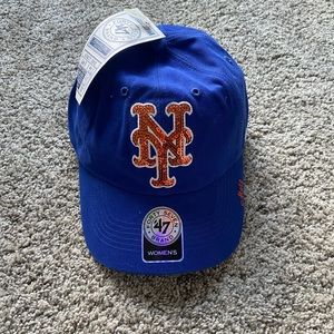 Women's sequined Mets cap